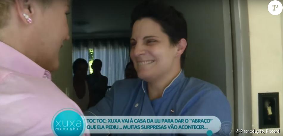 Xuxa fez uma visita surpresa para a chef de cozinha Lilian Sanjuan Pescuma, de 37 anos, no 'Programa Xuxa Meneghel', exibida no final de abril