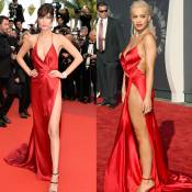 Bella Hadid repete vestido da grife Alexandre Vauthier usado por Rita Ora. Veja!
