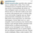 Yasmin Brunet responde seguidora sobre atitude de Luiza: 'Em umas batalhas você perde, em umas você ganha'