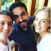 Angélica e Luciano Huck passam o dia com Padre Fábio de Melo: 'Tarde especial'