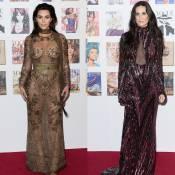 Kim Kardashian e Demi Moore abusam da transparência com look Cavalli em evento