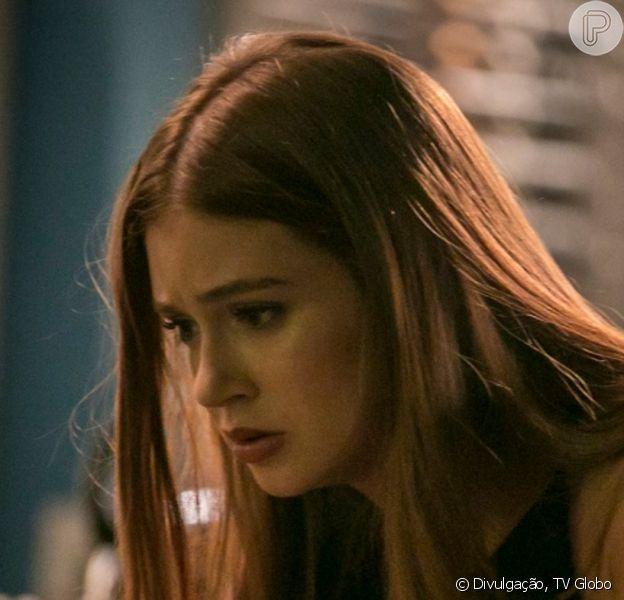 Novela 'Totalmente Demais': Eliza (Marina Ruy Barbosa) se desespera com facada em Jonatas (Felipe Simas)
