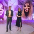 Tadeu Schmidt e Poliana, abrindo a matéria de Ludmilla no 'Fantástico' de domingo (29)