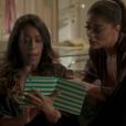 Em 'Totalmente Sem Noção Demais', Dorinha (Samantha Schmutz) começa a trocar mensagens picantes com Hugo (Orã Figueredo) mesmo sem saber que seu pretendente no aplicativo é ele