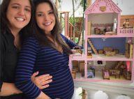 Thais Fersoza chora com casinha de boneca dada pela irmã à filha: 'Anestesiada'