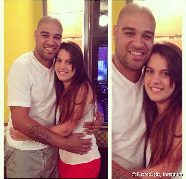 Adriano Imperador aparece pela primeira vez em público com a nova namorada, Bruna, em 26 de outubro de 2013