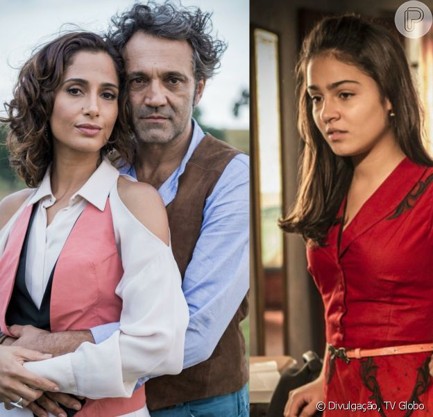Olívia (Giullia Buscaccio) flagra a discussão de Santo (Domingos Montagner) e Tereza (Camila Pitanga), na novela 'Velho Chico', a partir de 25 de junho de 2016