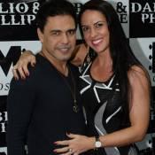 Zezé Di Camargo e Graciele Lacerda vão à gravação do 1º DVD do filho de Luciano