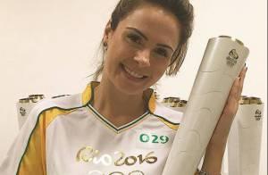 Ex-BBB Ana Paula rebate críticas por carregar tocha olímpica: 'Façam melhor!'