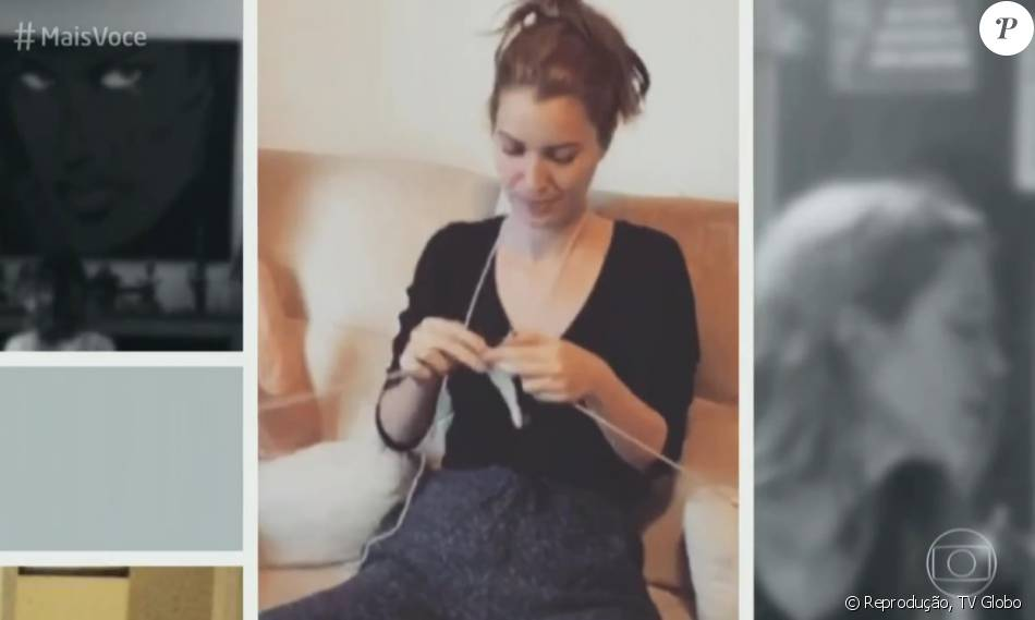 Nathalia Dill contou que faz tricô no bastidor da novela 'Liberdade, Liberdade': 'Esperar a gravação'