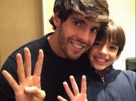 Kaka faz homenagem no aniversário do filho e comenta semelhança: 'Corta e cola'