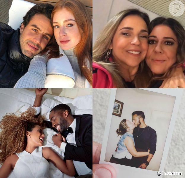 Marina Ruy Barbosa, Daniela Mercury, Lázaro Ramos e o ex-'BBB16' Matheus fizeram declarações na web no Dia dos Namorados, neste domingo, 12 de junho de 2016