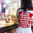Aline Dias já desfilou pela escola de samba Estácio de Sá