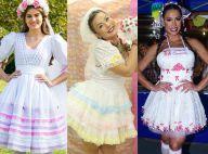 Veja fotos de 40 looks caipiras de famosas para arrasar nas festas juninas!