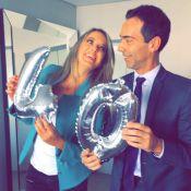 Ticiane Pinheiro faz 40 anos e o namorado, César Tralli, elogia: 'Energia de 20'