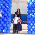 Luca  celebrou a nova idade   acompanhado de Carol Celico e da irmã Isabella, de 5 anos