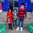 Donatella, Stefano e Romeo, filhos de Marcos Mion também foram para festa de 8 anos de Luca