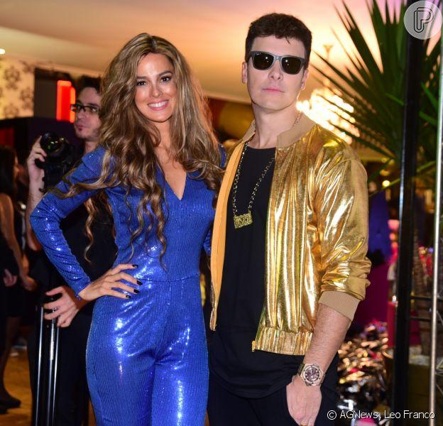 Rodrigo Faro e Veral Viel comemoram o aniversário das filhas Clara, 11, e Maria, 8, vestidos de Justin Bieber e Beyoncé, em São Paulo, no sábado, 18 de junho de 2016