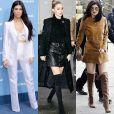 Monica Rose está por trás das produções das irmãs Kardashian, Gigi e Bella Hadid, e Kylie e Kendall Jenner. Na foto, Kourtney Kardashian, Gigi Hadid e Kylie Jenner desfilam todo o seu estilo, alcançado com a ajuda da stylist