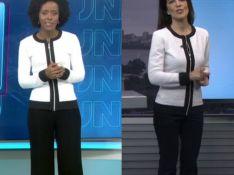 Maju repete look de Mariana Gross no mesmo dia na TV. Compare foto!