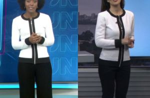 Maju repete look de Mariana Gross no mesmo dia na TV. Compare foto!