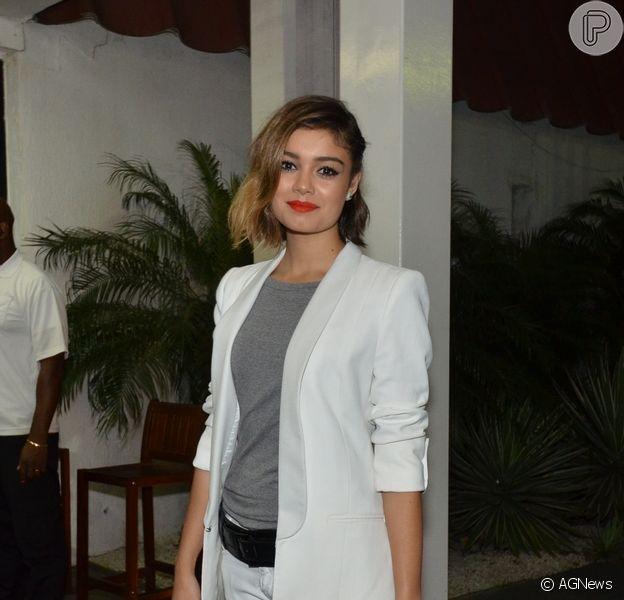Sophie Charlotte assistiu ao último capítulo da novela 'Sangue Bom', na noite desta sexta-feira, 1 de novembro de 2013, na churrascaria Pampa Girl, na Barra da Tijuca, Zona Oeste do Rio de Janeiro
