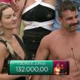 Em um outro programa, Laura e Jorge tiveram os melhores desempenhos e somaram R$ 132 mil e uma viagem com tudo pago para Las Vegas, onde vão se casar