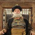 O rei Seom (Ricardo Pavão) se nega a deixar os hebreus passarem por Hesbom, nos últimos capítulos da novela 'Os Dez Mandamentos - Nova Temporada'