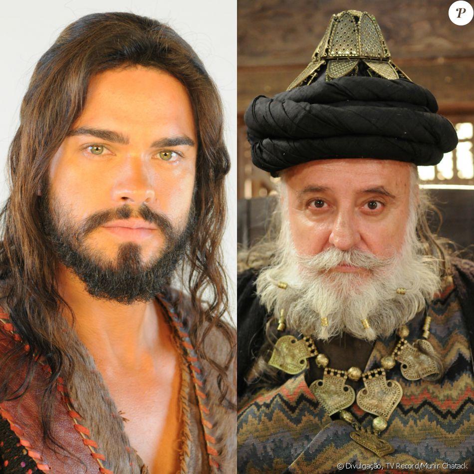 Josué (Sidney Sampaio) mata o rei Seom (Ricardo Pavão) durante confronto no reino Hesbom, nos últimos capítulos da novela 'Os Dez Mandamentos - Nova Temporada'