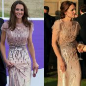 Kate Middleton repete vestido de R$ 15 mil usado em 2011. Veja fotos!