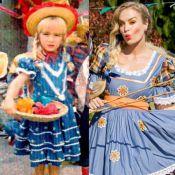 Angélica mostra foto de caipira na infância e fãs pedem: 'Refaz no Caldeirão!'