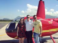 Ex-BBB Matheus passeia de helicóptero com a namorada, Cacau, no RJ. Vídeo!