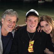 Letícia Spiller posa com ex-marido, Marcello Novaes, e o filho: 'Muito amor'