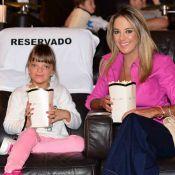 Ticiane Pinheiro vai com a filha, Rafaella Justus, ao cinema, em SP: 'Amamos'