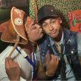 David Brazil brinca com Neymar na festa julina
