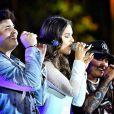 De olho na carreira na música sertaneja, Mariana Rios cantou com dupla Matheus e Kauan o hit 'Que Sorte a Nossa', no Festival Villa Mix, em Goiânia, no fim de semana