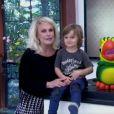 Bento, de 4 anos, neto de Ana Maria Braga brincou com o Louro José durante o 'Mais Você'