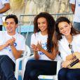 Andre Gonçalves, Lucy Ramos e Bruna Marquezine participaram do Ação Global