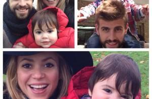 Shakira se diverte com Gerard Piqué e Milan, e afasta rumores de separação