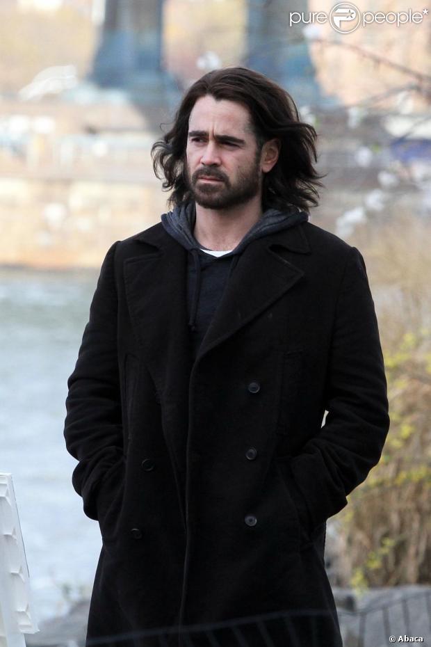 Colin Farrell foi flagrado no set de filmagens de 'Winter's tale', em Nova Iorque