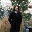 Colin Farrell no set de filmagens de 'Winter's tale'