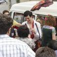 Mateus Solano e Elizabeth Savalla gravam no Recreio dos Bandeirantes, no Rio de Janeiro