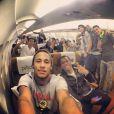 Antes de desembarcar em Viena, Neymar postou em seu Instagram uma foto ao lado de Robinho e outros jogadores da Seleção Brasileira. E legendou: 'Voltando pra casa'