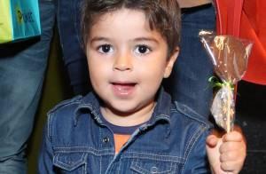 Juliana Paes festeja aniversário de 3 anos de Pedro, seu 1º filho, nesta segunda