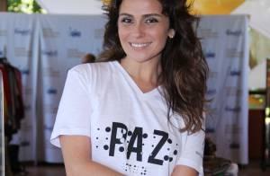 Giovanna Antonelli realiza bazar beneficente com a presença do marido