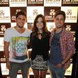 Bruno Gissoni, Giovanna lancelotti e Daniel Rocha participam de vento da loja John John, no Rio