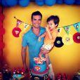 Sidney Sampaio com o filho Leonardo, de 3 anos