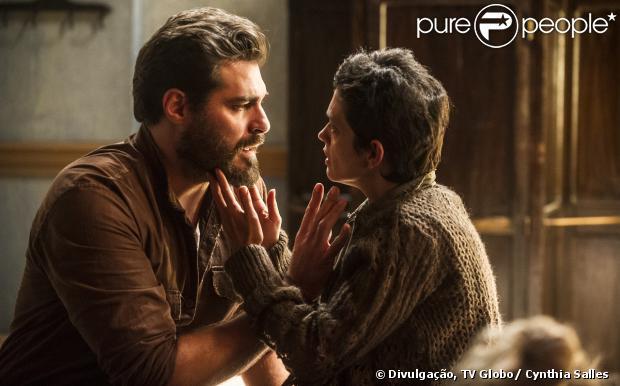 Toni (Thiago Lacerda) conta para Gaia (Ana Cecília Costa) que se casou com outra mulher, em 'Joia Rara', em 9 de dezembro de 2013