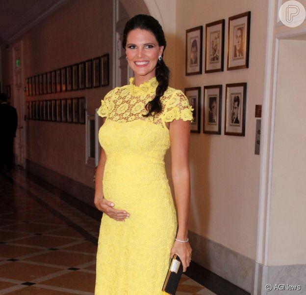 Com cinco meses de gravidez, Daniella Sarahyba engordou apenas 3,5 quilos