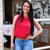 Graciele Lacerda ganha festa de aniversário e bolo com sua foto: 'Amei'. Vídeo!